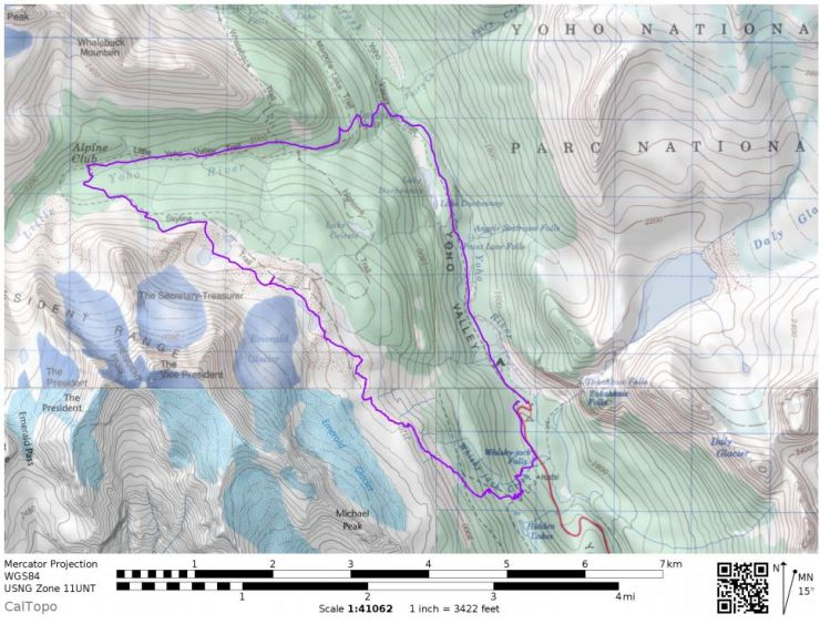 Yoho-national-park-iceline-trail-map