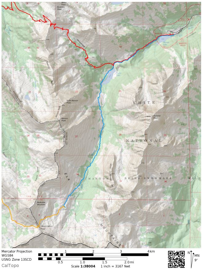 maroon-bells-four-pass-loop-map-day-1
