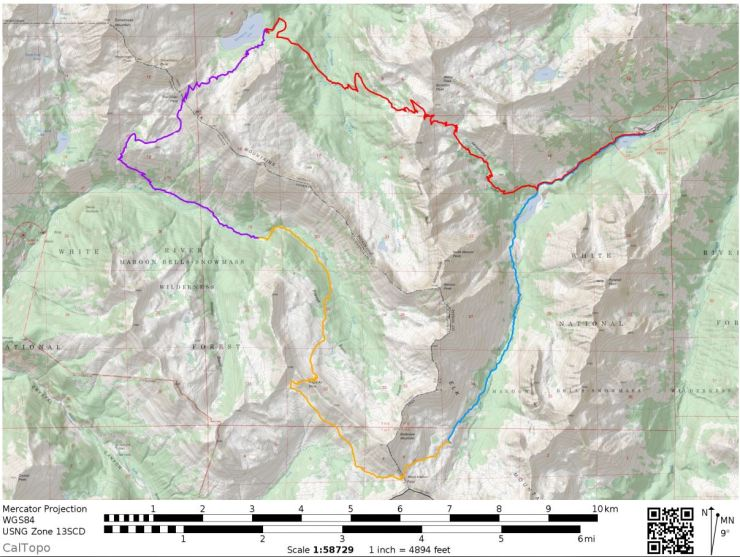 maroon-bells-four-pass-loop-overall-map