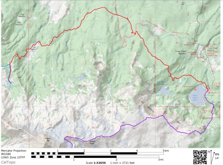 three-sisters-wilderness-broken-top-loop-map-Day-1