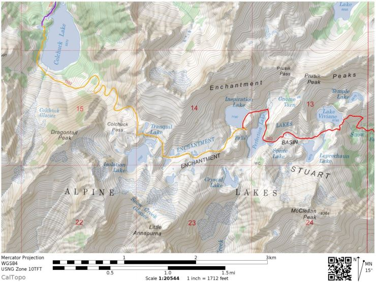 Enchantments-backpacking-day-2-map