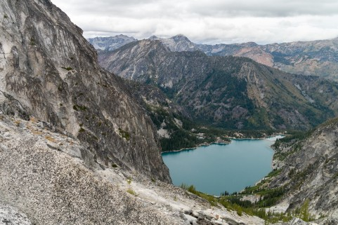 View of Colchuck Lake from Aasgard Pass (credit: Brook Peterson)