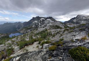 View looking towards McClellan Peak from the top of Prusik Pass (credit: Will Thomas)