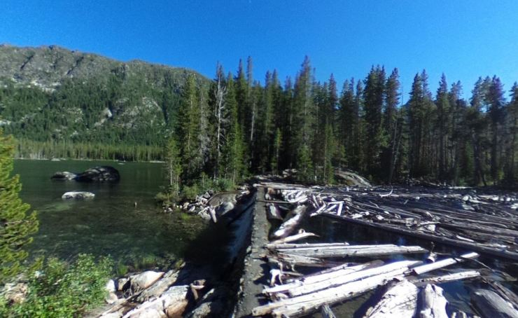 Snow-lakes-dam-log-jam