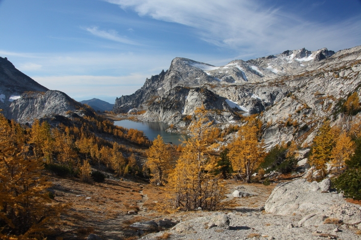 View looking Southwest towards the Upper Enchantment regions from Prusik Pass (credit: Jeff P)