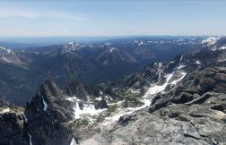 View from Little Annapurna looking Southwest into Wenatchee National Forest (credit: Adam Weld)