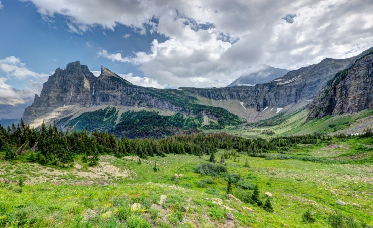 Seen from the Stoney Indian Pass Trail in Glacier National Park, Montana