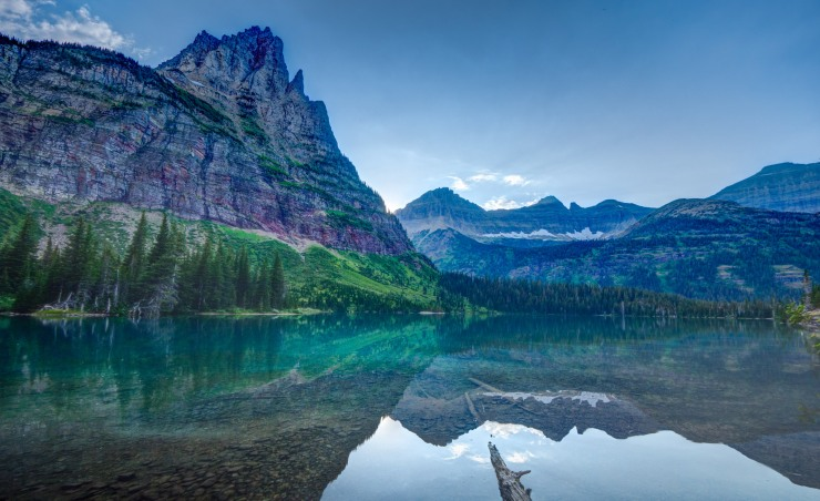 Mokowanis Lake in Glacier National Park, Montana