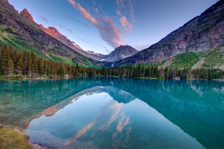 Mokowanis Lake in Glacier National Park, Montana