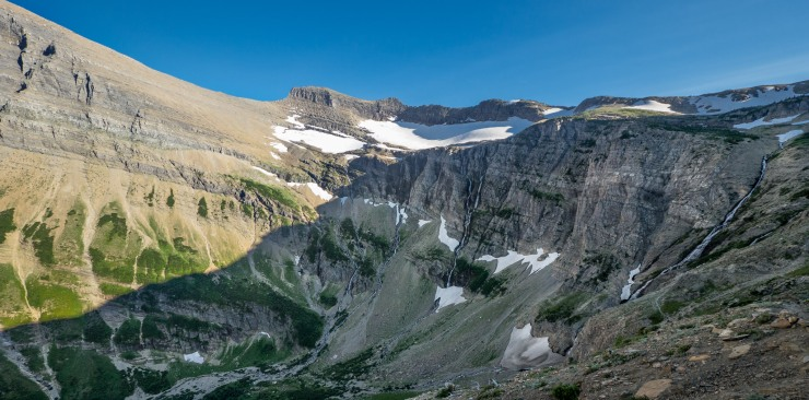 glacier-backpacking-north-circle-swift-current-pass-trail-9-headwall-waterfalls