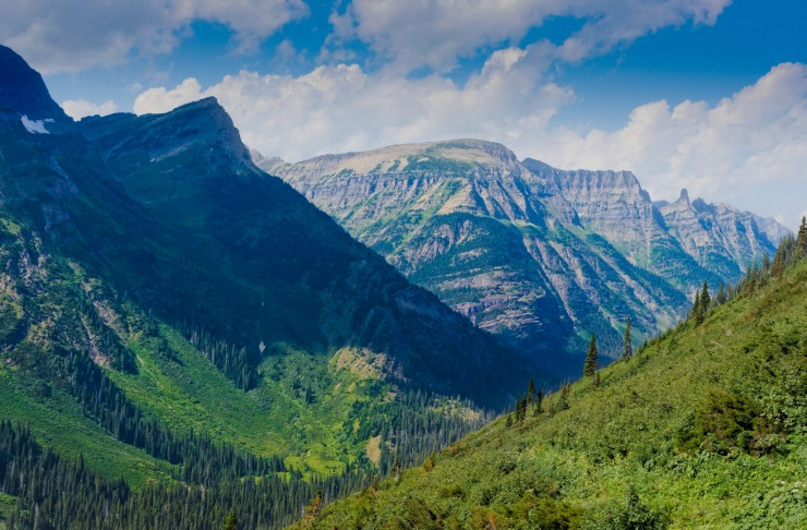Seen from the Waterton Valley Trail in Glacier National Park, Montana