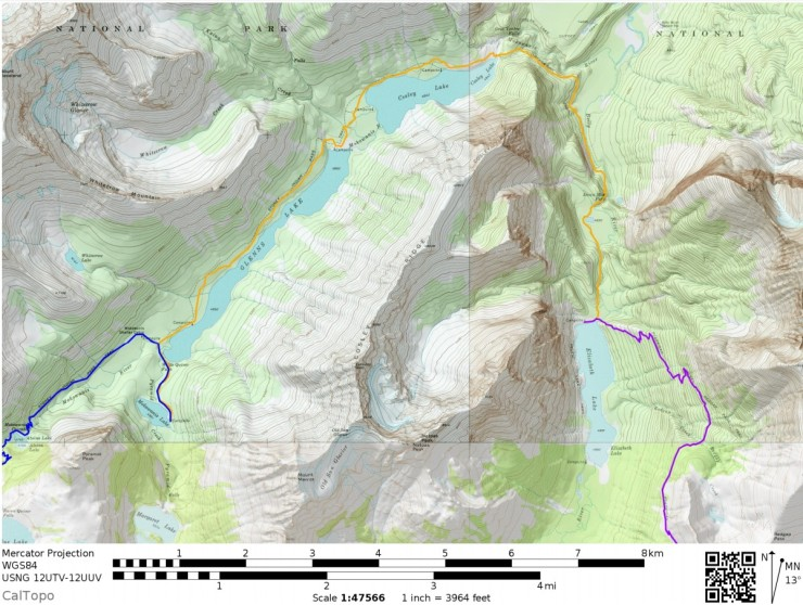 Glacier-national-park-backpacking-north-circle-day2-map