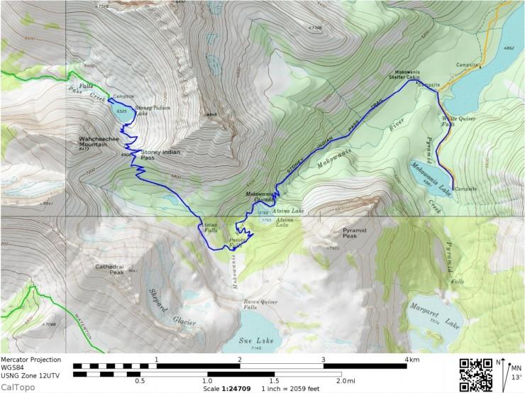 Glacier-national-park-backpacking-north-circle-day3-map