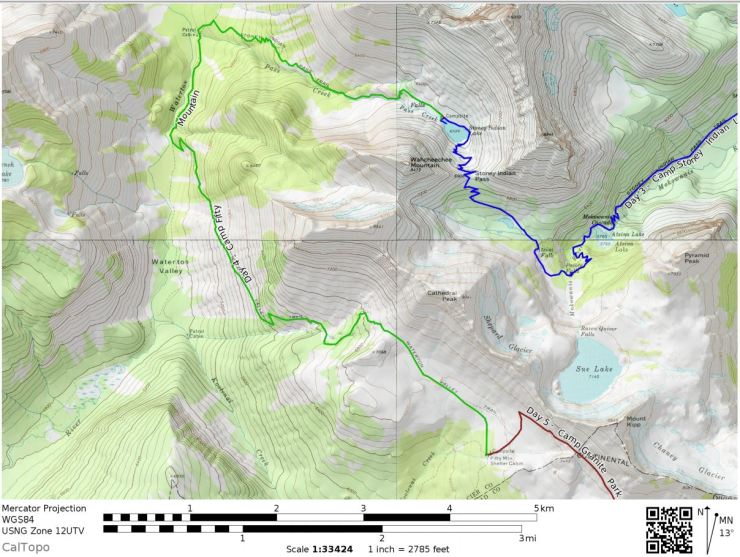 Glacier-national-park-backpacking-north-circle-day4-map