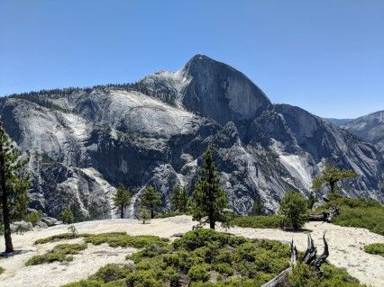 View of Half Dome from the Snow Creek vista point