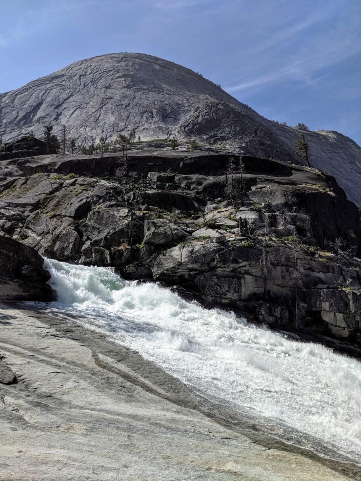 yosemite-backpacking-merced-bunnell-cascade-slide
