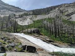 Looking back at Merced Falls