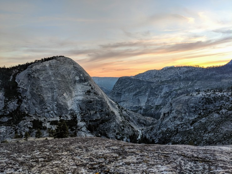 yosemite-backpacking-merced-high-trail-bunnell-point-sunset