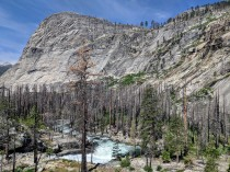 Closer view of the Merced River and the Lost Valley