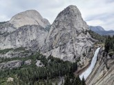 Along the way down the trail you get some awesome views of Nevada Falls, Liberty Cap, Mount Broderick, and Half Dome.