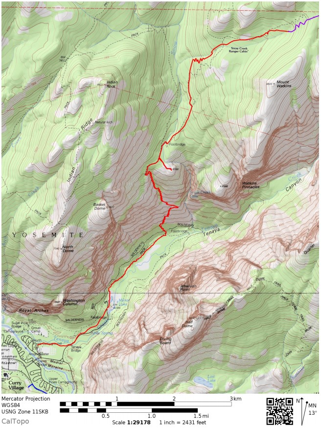 Yosemite-valley-loop-map-day-1