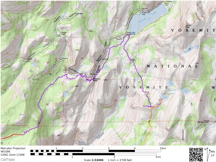 Yosemite-valley-loop-map-day-2