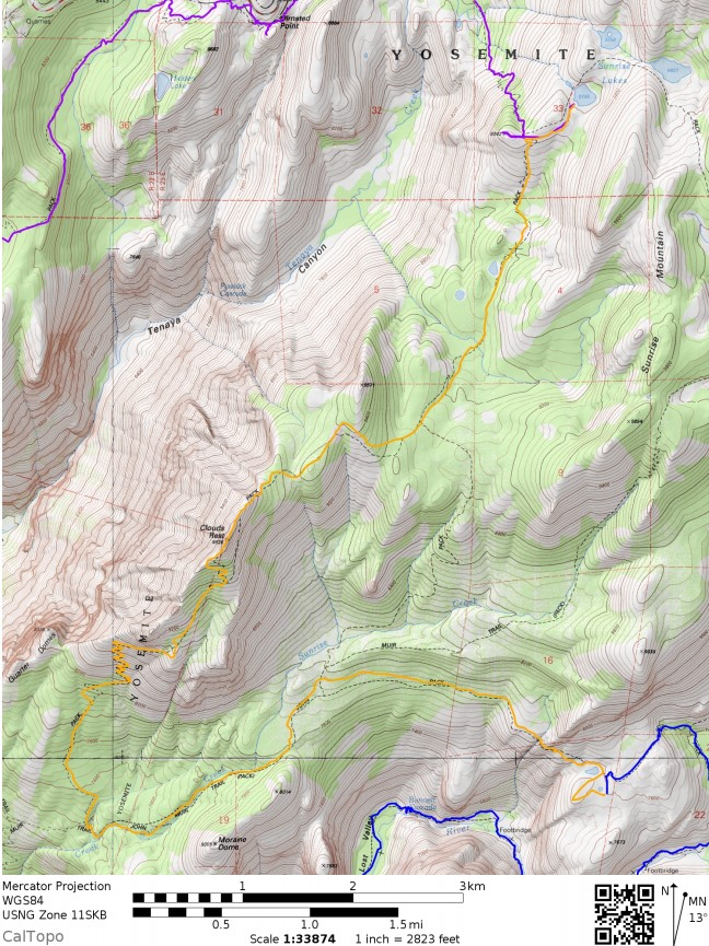 Yosemite-valley-loop-map-day-3