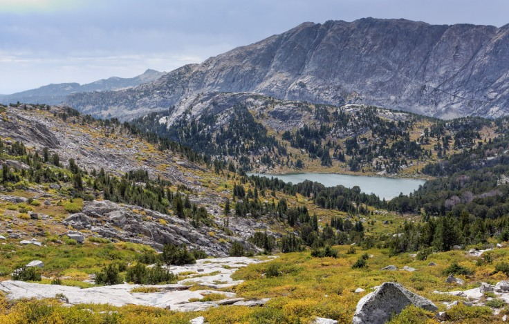 View of Skull Lake in the distance, which will be the campsite for night 4 (credit: John Strother)