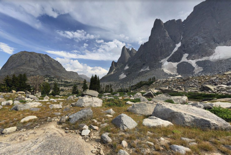 wind-river-cirque-towers-backpacking-view-of-campsite-and-jackass-pass
