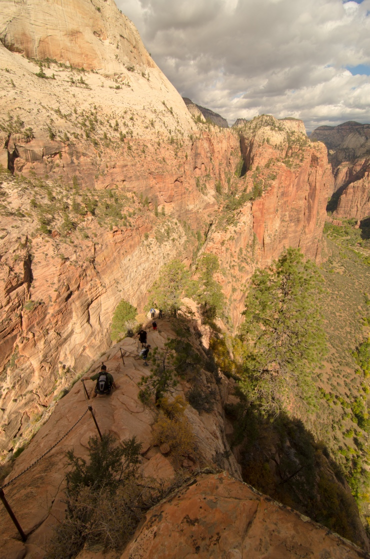 Chains down from Angel's Landing