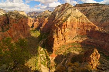 View of Zion Canyon from the top of Angel's Landing (credit: Bryan Chan)