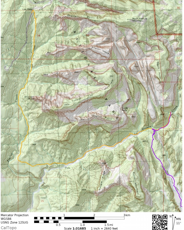 Zion-traverse-backpacking-day-1-map