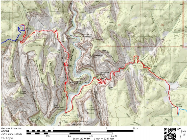 Zion-traverse-backpacking-day-4-map