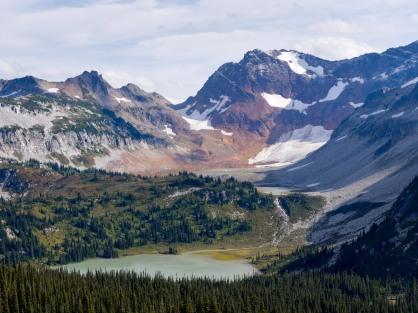 View looking back at Spider Gap and Lyman Lake (credit: John Strother)