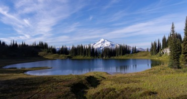 View of Image Lake with Glacier Peak in the background (credit: John Strother)