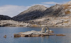 View of one of the lakes in the Indian Basin in the Wind River Range.