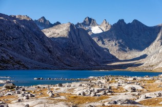 One of many great views in the Titcomb Basin in the Wind River Range.