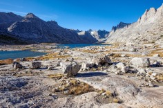 View showing both the Upper Titcomb Lake and Lower Titcomb Lake in the Titcomb Basin.
