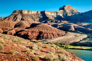 View of the Basalt Cliffs and Apollo Temple from the Escalante Trail in Grand Canyon National Park (credit: John Strother)