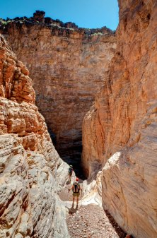 Hiking through Seventyfive Mile Canyon on the Escalante Trail in Grand Canyon National Park (credit: John Strother)