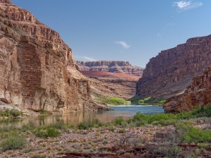 View looking north from the beach at the outlet of Seventyfive Mile Canyon (credit: John Strother)