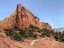 On the Hangover Trail hiking towards the Cow Pies Trail in Sedona, AZ