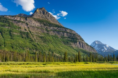 View from the Gunsight Pass Trail in Glacier National Park (credit: John Strother)