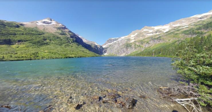 glacier-gunsight-lake-shore