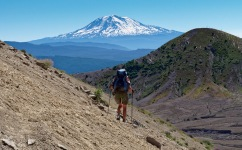 Mount Adams, seen while descending from Windy Pass along the Loowit Trail (credit: John Strother)