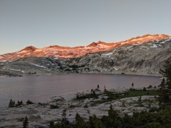 Sunrise at Lake Aloha in Desolation Wilderness