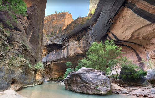 The Narrows in Zion National Park (credit: A. Valdez)