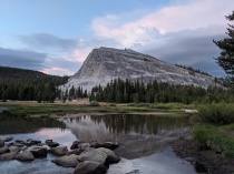 Lembert Dome viewed from near the Tuolumne Meadows Backpackers Campground in Yosemite National Park