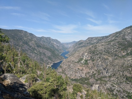 View looking back at the Hetch Hetchy Reservior.