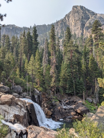 A falls shortly after Return Creek along on the Grand Canyon of the Tuolumne trek in Yosemite National Park